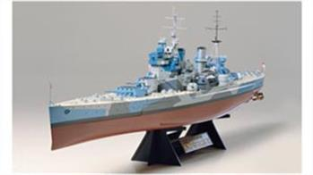 The Tamiya range of 1:350 scale plastic model kits includes many famous WW2 battleships and the nuclear powered USS Enterprise.