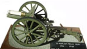 Hand-built dioramas and models of historic artillery pieces.