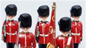 Ceremonial figures and figure sets including Trooping of the Colour sets.