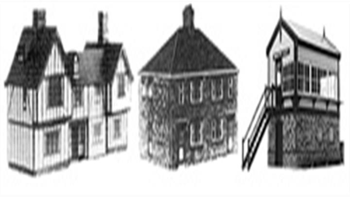 The Bilteezi or bilt-eezi range of card kits features many pre-war period buildings useful for 1930s model railway scenes.