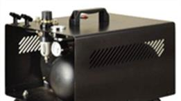 Airbrush air compressors and propellant gas cannisters