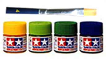 Paints, brushes, aerosol cans and air brushes for painting models. Acrylic and enamel paints from Revell, Humbrol, Tamiya and more.