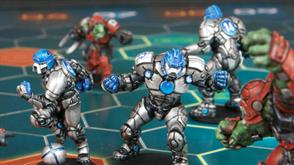 Mantic Games Dreadball futuristic sports game. Miniatures wargaming with the future of football!