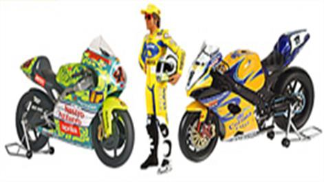 1/12 Scale Modern Race Motorcycles. These 1/12 scale motorbikes are highly detailed replicas.