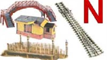 N gauge track, buildings and lineside accessories. Products from Peco, Ratio, Metcalfe and Bachmann Graham Farish