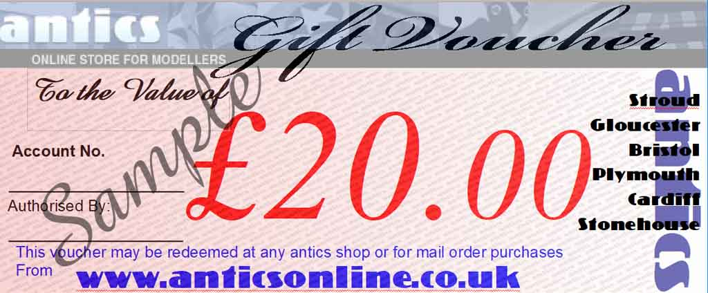 Antics £20.00 Gift Voucher GV3