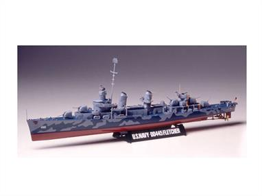 Tamiya 1/350 US Navy Destroyer DD445 Fletcher WW2 78012Model Length 325mm.
