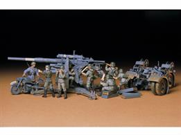 Tamiya 35017 1/35 Scale German 88mm Gun Flak 36/37 including 9 Figures WW2
