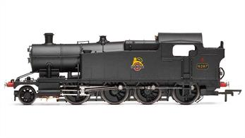Hornby R3462 OO BR 4287 ex-GWR 42xx Class 2-8-0T Heavy Freight Tank Engine BR Plain Black Early Emblem (to be confirmed)A superb model of the GWRs powerful 42xx class of 2-8-0 heavy freight tank engines finihsed as 4287 running under British Railways owenrship in plain black livery.Note - Hornbys' description for this model lists it as late crest, but the photo supplied shows the early emblem. The livery details may be changed before release.DCC Ready. 8 pin decoder required for DCC operation.