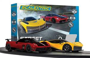 This set features everything you need to start your racing career, including 2 easy speed limiting hand controllers, 2 crash resistant cars and over 4.8metres of track which creates 4 track layouts.