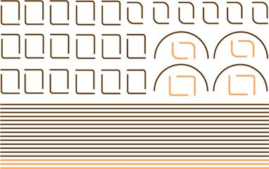 Modelmaster Decals MM4081 00 Gauge Orange /Black /Orange Lining for B.R Green LocosOrange /Black /Orange Lining for B.R Green Livery, with straight lines, curves, corners & boiler bands.