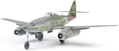 Tamiya 61087 Messerschmitt Me262A1a WW2 Jet Fighter model is a very detailed kit of this famous Luftwaffe jet engined fighter. Length 221mm - Wingspan 264mmGlue and paints are required ts.