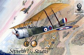 Sopwith 1 1/2 Stutter World War One Two Seater FighterGlue and paints are required to assemble and complete the model (not included)Click on the More link to view related products.