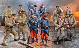 Revell 1/35 WW1 Infantry set, Germans/British/French (1914) 02451Number of Parts 451Number of Figures 12Glue and paints are required
