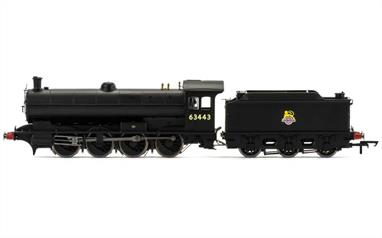 Hornby Railways R3425 OO Gauge BR 63443 Raven Q6 Class 0-8-0 Heavy Goods Engine British Railways Black Early EmblemAn all-new model of the North Eastern Railways' 0-8-0 heavy goods engines, classified Q6 by the LNER