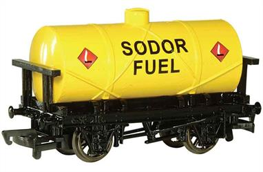 Model of the Sodor Fuel oil tank wagon from the Thomas the Tank Engine books and TV series.