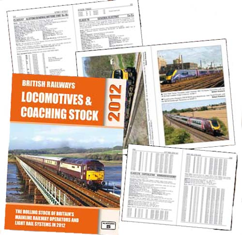 British Railways Locomotives & Coaching Stock 2012 contains a complete listing of all locomotives, coaching stock and multiple units that run on Britain's mainline railways with full owner, operation, livery and depot allocation information for every vehicle. Also includes the fleets of the UK's light rail systems and on-track machines used to maintain Britain's railways.<BR><BR>Contains the following:<BR>• Overview of Britain's Railway System<BR>• Classification and Numbering Schemes<BR>• Owner and Operator Information<BR>• Livery Details<BR>• 64 pages of colour illustrations<BR>• Named Vehicles<BR>• List of Depots and Workshops<BR>• Multiple Unit Formations<BR>Plus a wealth of useful technical data for every class of vehicle.<BR><BR>Widely used as a source of reference throughout the railway industry, British Railways Locomotives & Coaching Stock has achieved an unrivalled reputation as the definitive guide to rolling stock on Britain's railways.<BR>A5 format, 384 pages. Hardback.