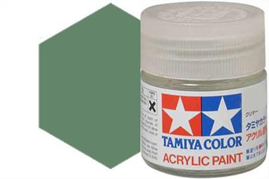 Tamiya XF-5 matt green, acrylic paint suitable for brush or spray painting.