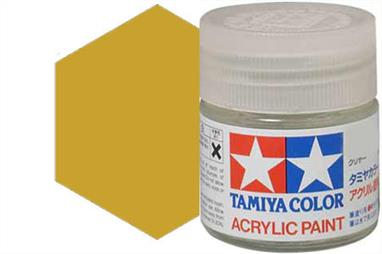 Tamiya X-12 metallic gold leaf, acrylic paint suitable for brush or spray painting.