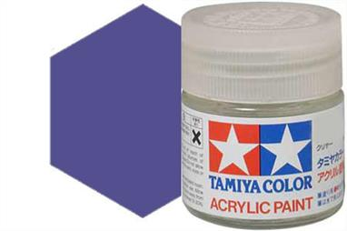 Tamiya X-16 gloss purple, acrylic paint suitable for brush or spray painting.
