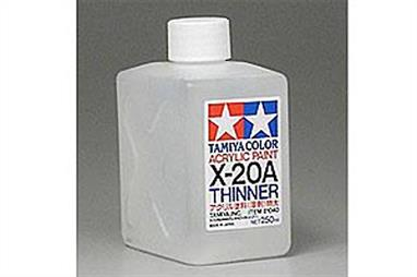 These Tamiya Acrylic Paints are made from water-soluble acrylic resins and are excellent for either spray or brush painting. The paints can be used on styrofoam, wood, plus model plastics covering well and flowing smoothly with no blushing or fading