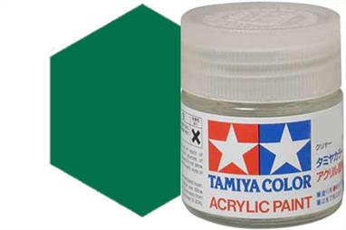 Tamiya X-5 gloss green, acrylic paint suitable for brush or spray painting.