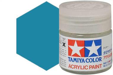 Tamiya XF-50 matt field blue, acrylic paint suitable for brush or spray painting.