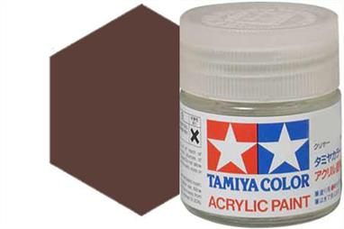Tamiya XF-10 matt brown, acrylic paint suitable for brush or spray painting.