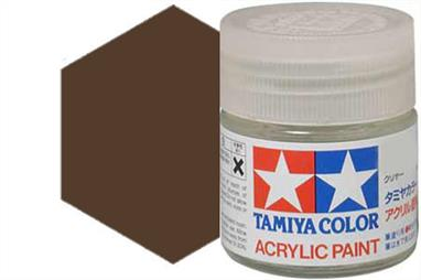 Tamiya XF-64 matt red brown, acrylic paint suitable for brush or spray painting.