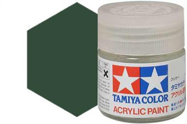 Tamiya XF-58 matt olive, acrylic paint suitable for brush or spray painting.