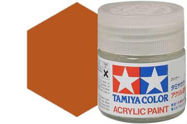 Tamiya X-34 metallic brown, acrylic paint suitable for brush or spray painting.