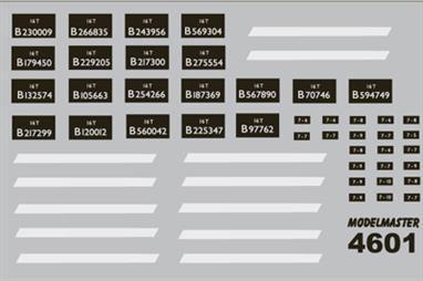 Modelmaster Decals MM4601 00 Gauge Decals for British Railways Steel Mineral Wagons 1948-1965 Sheet of lettering for British Railways 16-ton steel bodied open mineral wagons 1948 - 1965