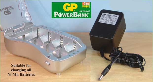 GP Universal Powerbank Charger for all Ni-Mh Batteries 21931