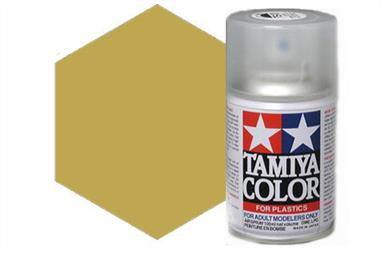 Tamiya TS3 Dark Yellow Synthetic Lacquer Spray Paint 100ml TS-3These cans of spray paint are extremely useful for painting large surfaces, the paint is a synthetic lacquer that cures in a short period of time. Each can contains 100ml of paint, which is enough to fully cover 2 or 3, 1/24 scale sized car bodies.