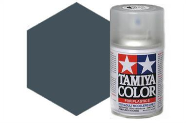 Tamiya TS4 German Grey Synthetic Lacquer Spray Paint 100ml TS-4These cans of spray paint are extremely useful for painting large surfaces, the paint is a synthetic lacquer that cures in a short period of time. Each can contains 100ml of paint, which is enough to fully cover 2 or 3, 1/24 scale sized car bodies.