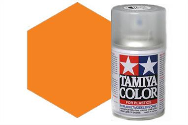 Tamiya TS12 Orange Synthetic Lacquer Spray Paint 100ml TS-12These cans of spray paint are extremely useful for painting large surfaces, the paint is a synthetic lacquer that cures in a short period of time. Each can contains 100ml of paint, which is enough to fully cover 2 or 3, 1/24 scale sized car bodies.