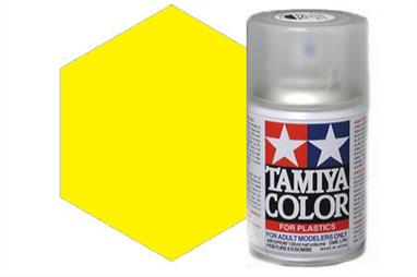 Tamiya TS16 Yellow Synthetic Lacquer Spray Paint 100ml TS-16These cans of spray paint are extremely useful for painting large surfaces, the paint is a synthetic lacquer that cures in a short period of time. Each can contains 100ml of paint, which is enough to fully cover 2 or 3, 1/24 scale sized car bodies.