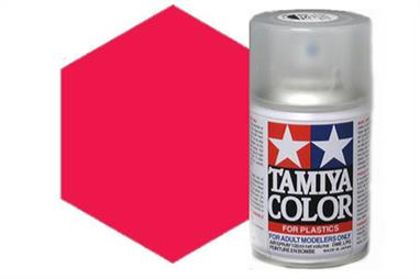 Tamiya TS18 Met. Red Synthetic Lacquer Spray Paint 100ml TS-18These cans of spray paint are extremely useful for painting large surfaces, the paint is a synthetic lacquer that cures in a short period of time. Each can contains 100ml of paint, which is enough to fully cover 2 or 3, 1/24 scale sized car bodies.