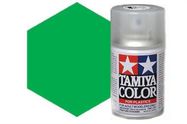 Tamiya TS20 Met. Green Synthetic Lacquer Spray Paint 100ml TS-20These cans of spray paint are extremely useful for painting large surfaces, the paint is a synthetic lacquer that cures in a short period of time. Each can contains 100ml of paint, which is enough to fully cover 2 or 3, 1/24 scale sized car bodies.