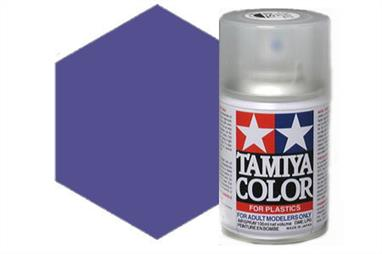 Tamiya TS24 Purple Synthetic Lacquer Spray Paint 100ml TS-24These cans of spray paint are extremely useful for painting large surfaces, the paint is a synthetic lacquer that cures in a short period of time. Each can contains 100ml of paint, which is enough to fully cover 2 or 3, 1/24 scale sized car bodies.