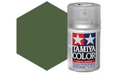 Tamiya TS28 Olive Drab Synthetic Lacquer Spray Paint 100ml TS-28These cans of spray paint are extremely useful for painting large surfaces, the paint is a synthetic lacquer that cures in a short period of time. Each can contains 100ml of paint, which is enough to fully cover 2 or 3, 1/24 scale sized car bodies.