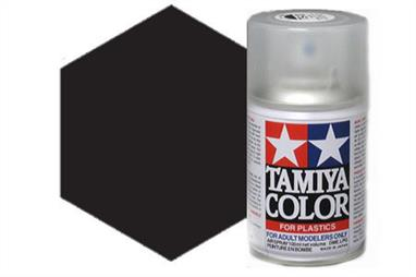 Tamiya TS29 Semi Gloss Black Synthetic Lacquer Spray Paint 100ml TS-29These cans of spray paint are extremely useful for painting large surfaces, the paint is a synthetic lacquer that cures in a short period of time. Each can contains 100ml of paint, which is enough to fully cover 2 or 3, 1/24 scale sized car bodies.