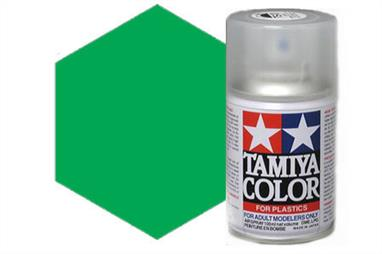Tamiya TS35 Park Green Synthetic Lacquer Spray Paint 100ml TS-35These cans of spray paint are extremely useful for painting large surfaces, the paint is a synthetic lacquer that cures in a short period of time. Each can contains 100ml of paint, which is enough to fully cover 2 or 3, 1/24 scale sized car bodies.