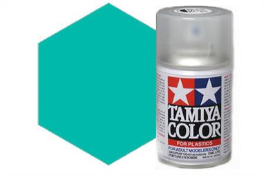 Tamiya TS41 Coral Blue Synthetic Lacquer Spray Paint 100ml TS-41These cans of spray paint are extremely useful for painting large surfaces, the paint is a synthetic lacquer that cures in a short period of time. Each can contains 100ml of paint, which is enough to fully cover 2 or 3, 1/24 scale sized car bodies.