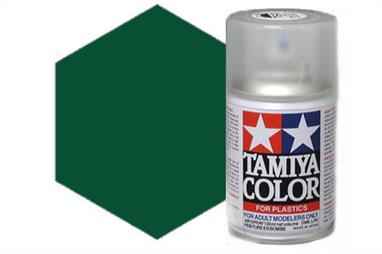 Tamiya TS43 Racing Green Synthetic Lacquer Spray Paint 100ml TS-43These cans of spray paint are extremely useful for painting large surfaces, the paint is a synthetic lacquer that cures in a short period of time. Each can contains 100ml of paint, which is enough to fully cover 2 or 3, 1/24 scale sized car bodies.