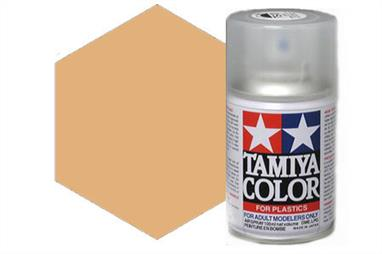 Tamiya TS46 Light Sand Synthetic Lacquer Spray Paint 100ml TS-46These cans of spray paint are extremely useful for painting large surfaces, the paint is a synthetic lacquer that cures in a short period of time. Each can contains 100ml of paint, which is enough to fully cover 2 or 3, 1/24 scale sized car bodies.