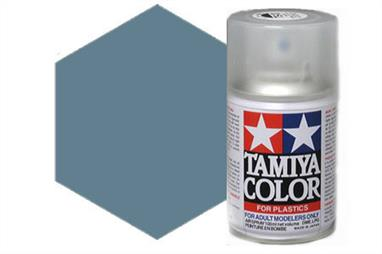 Tamiya TS48 Gunship Grey Synthetic Lacquer Spray Paint 100ml TS-48These cans of spray paint are extremely useful for painting large surfaces, the paint is a synthetic lacquer that cures in a short period of time. Each can contains 100ml of paint, which is enough to fully cover 2 or 3, 1/24 scale sized car bodies.