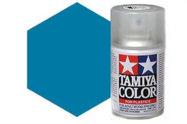 Tamiya TS54 Metallic Blue Synthetic Lacquer Spray Paint Light 100ml TS-54These cans of spray paint are extremely useful for painting large surfaces, the paint is a synthetic lacquer that cures in a short period of time. Each can contains 100ml of paint, which is enough to fully cover 2 or 3, 1/24 scale sized car bodies.