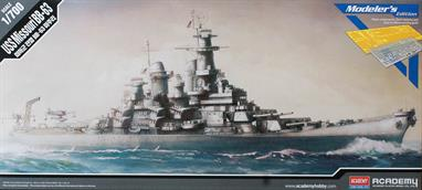 Academy 1/700 US Missouri BB-63 Battleship Modeller's Edition Kit 14223Glue and paints are required to assemble and complete the model (not included)