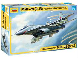 Zvezda 7278 1/72nd Mig 29(9-13) Russian Fighter Aircraft KitNumber of Parts 190  Length 240mm